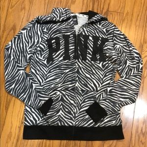 Victoria's Secret Pink zebra print hoodie